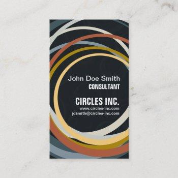 asyncronous circles business card