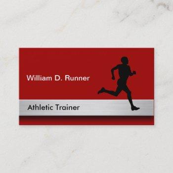 athletic trainer professional business cards