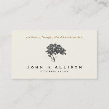 attorney at law ivory elegant tree business card