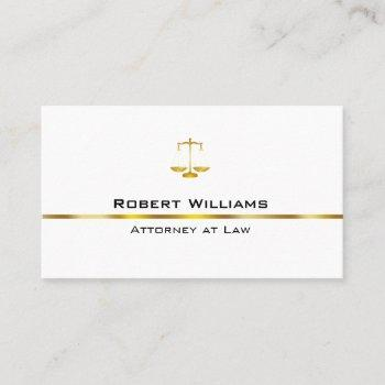 attorney at law professional simple gold legal business card