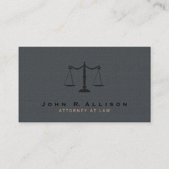 attorney justice scale gray texture background business card