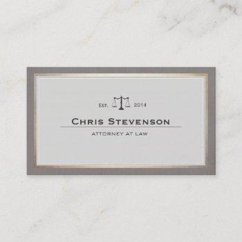 attorney justice scale traditional vintage style business card