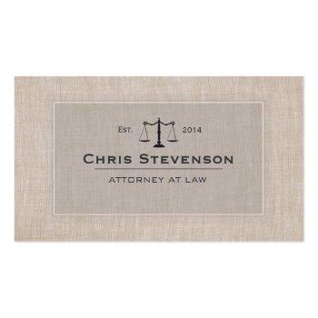 Small Attorney Justice Scale Traditional Vintage Style Business Card Front View