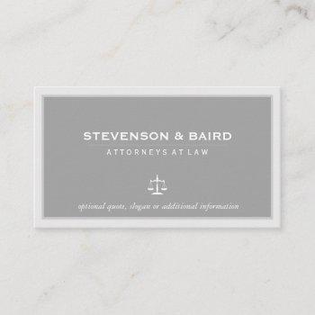 attorney lawyer elegant gray business card