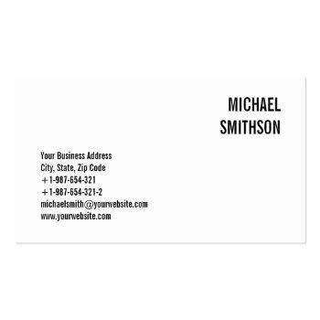 Small Attractive Charming Black & White Business Card Front View