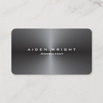 attractive metallic grey stylish modern minimalist business card