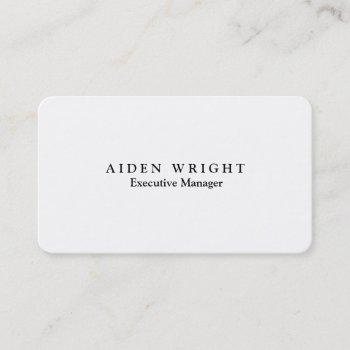attractive trendy stylish modern minimalist business card