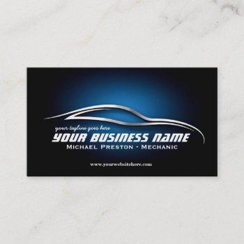 auto, automotive, used cars, car dealer, mechanic business card