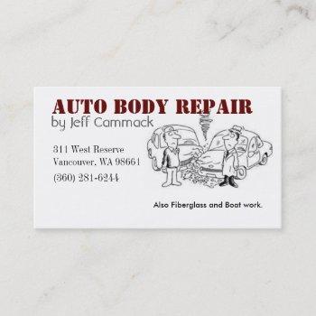 auto body card