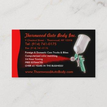 auto body  customizable business card
