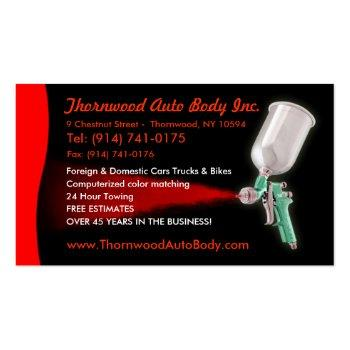 Small Auto Body  Customizable Business Card Front View