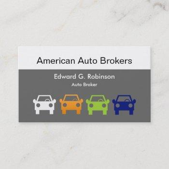 auto broker business cards