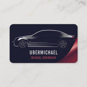auto car navy red luxury business card