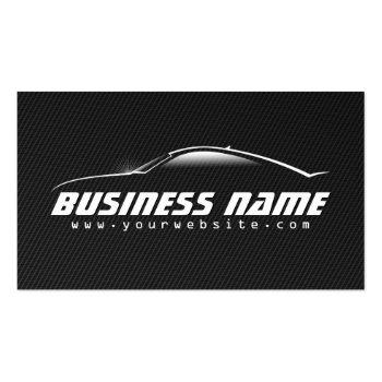 Small Auto Car Professional Black Carbon Fiber Business Card Front View