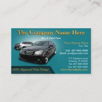 auto dealership sales - auto sales double sided business card