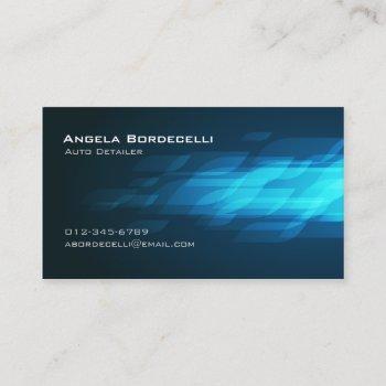 auto detailer automotive transport flashback business card