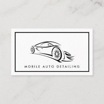 auto detailing, auto repair logo business card