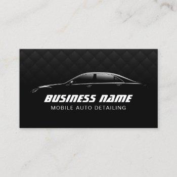 auto detailing automotive luxury black car business card