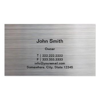 Small Auto Detailing Modern Metal Texture Automotive Business Card Back View