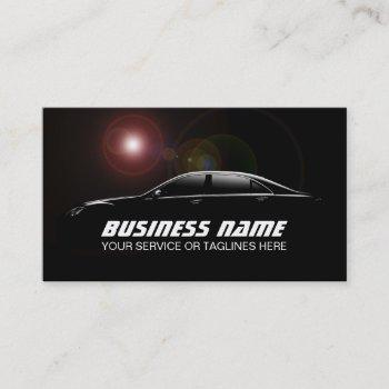 auto detailing professional automotive car business card