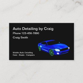 auto detailing services business card
