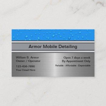 auto detailing water drops business cards