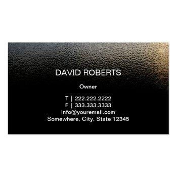 Small Auto Detailing Water Drops Professional Car Business Card Back View