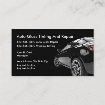 auto glass business cards