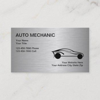 auto mechanic business cards