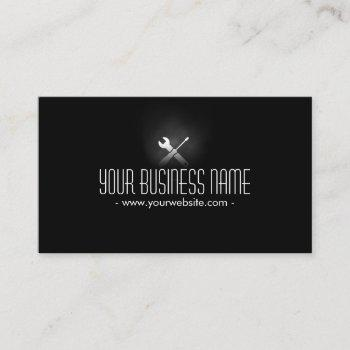 auto repair plain dark professional business card