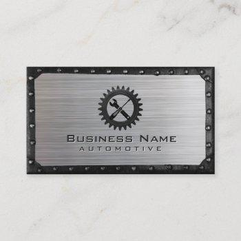 auto repair professional metal framed automotive business card