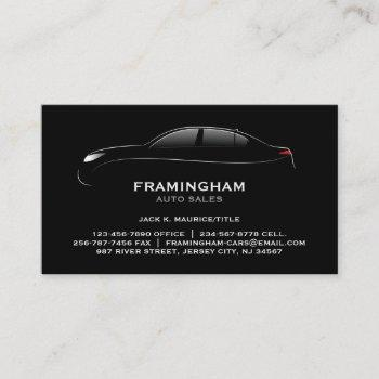 auto sale bold business card