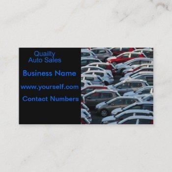 auto sales business card