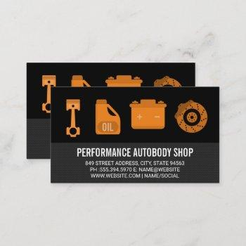 auto shop repair tools and hardware business card