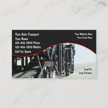 auto transport car carrier business cards