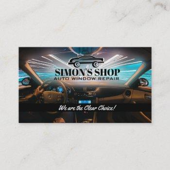 auto window repair slogans business card