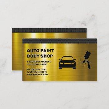 autobody paint shop business card