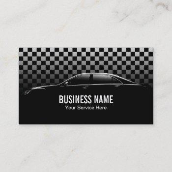 automotive auto detailing car repair modern business card
