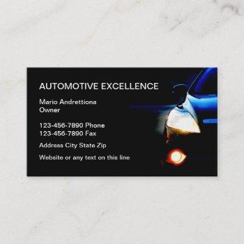 automotive business services business card