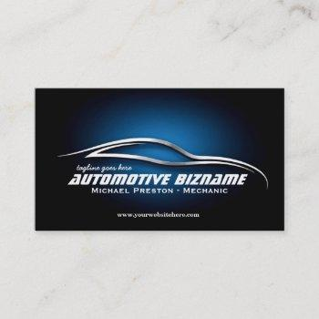 automotive, car dealer, auto repair, mechanic business card
