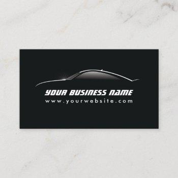 automotive car outline auto detailing repair business card