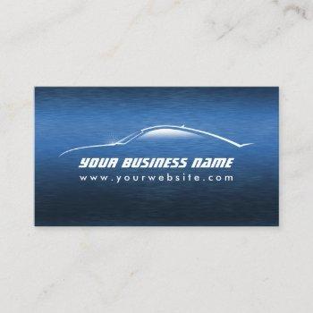 automotive cool blue car auto business card