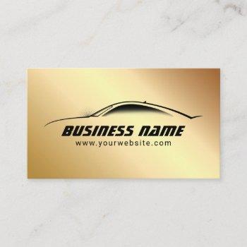 automotive cool goold car auto business card