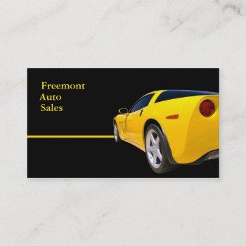 automotive dealership business card