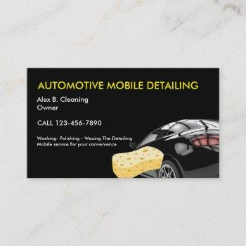 automotive detailing business cards