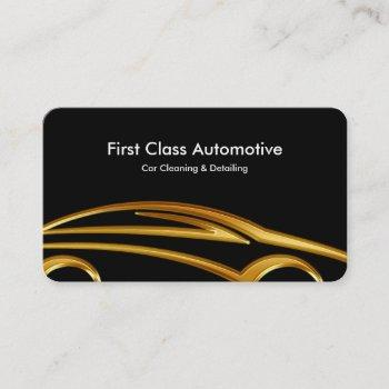 automotive detailing cleaning business cards