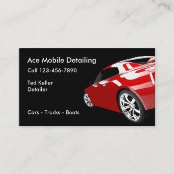 automotive mobile detailing business cards