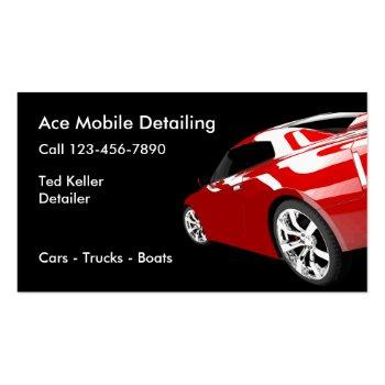 Small Automotive Mobile Detailing Business Cards Front View