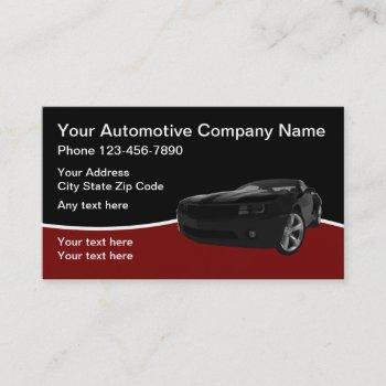 automotive modern design business card