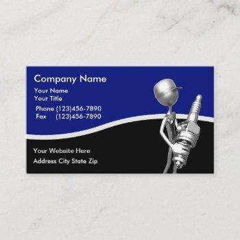 automotive retro theme business card